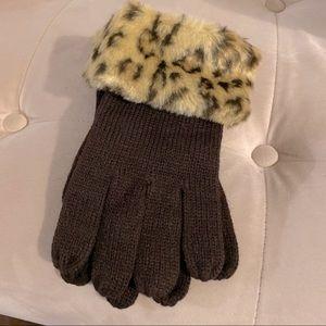 Brand New Fur Rimmed Gloves